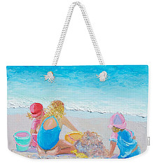 Beach Painting - Building Sandcastles Weekender Tote Bag