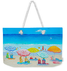 Beach Painting - Catching The Breeze Weekender Tote Bag by Jan Matson