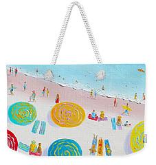 Beach Painting - The Simple Life Weekender Tote Bag by Jan Matson
