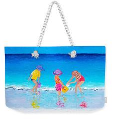 Beach Painting - Water Play  Weekender Tote Bag by Jan Matson