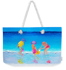 Beach Painting - Water Play  Weekender Tote Bag