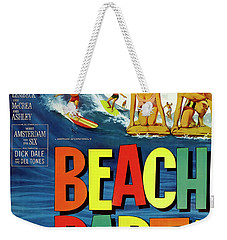 Beach Party Lobby Promo With Frankie Avalon Autograph  1963 Weekender Tote Bag
