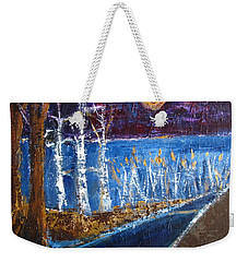 Beach Path At Night Weekender Tote Bag by Betty Pieper