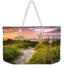 Beach Path Sunrise Weekender Tote Bag by David Smith