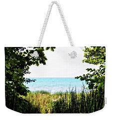 Weekender Tote Bag featuring the photograph Beach Path With Snake Grass by Michelle Calkins