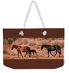 Beach Ponies - Wild Horses In The Dunes Weekender Tote Bag
