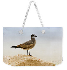 Weekender Tote Bag featuring the photograph Beach Pose by Deborah Benoit