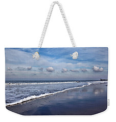 Weekender Tote Bag featuring the photograph Beach Reflections by Annie Snel
