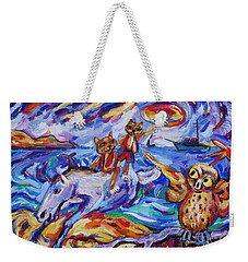 Weekender Tote Bag featuring the painting Beach Run by Dianne  Connolly