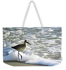 Beach Sandpiper Weekender Tote Bag by Kathy Long