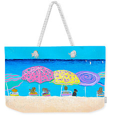 Beach Sands Perfect Tans Weekender Tote Bag by Jan Matson