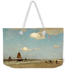 Beach Scene Weekender Tote Bag by Jan Hendrik Weissenbruch
