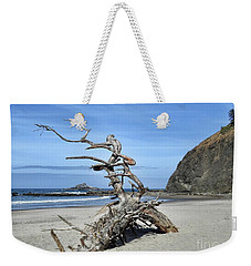 Weekender Tote Bag featuring the photograph Beach Sculpture by Peggy Hughes
