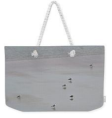Beach Seagulls Weekender Tote Bag by Kathy Long
