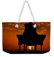Beach Shelter At Sunset Weekender Tote Bag
