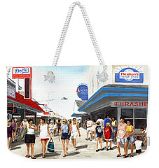 Beach/shore I Boardwalk Ocean City Md - Original Fine Art Painting Weekender Tote Bag