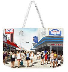 Beach/shore I Boardwalk Ocean City Md - Original Fine Art Painting Weekender Tote Bag