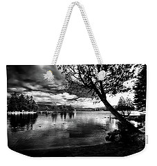 Weekender Tote Bag featuring the photograph Beach Silhouette by David Patterson