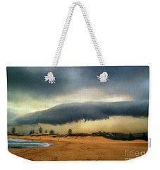 Weekender Tote Bag featuring the photograph Beach Storm At Sunset By Kaye Menner by Kaye Menner