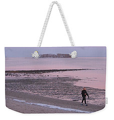 Weekender Tote Bag featuring the photograph Beach Stroll by John Scates