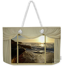 Beach Sunrise From Your Home Or Office By Kaye Menner Weekender Tote Bag by Kaye Menner