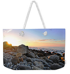 Beach Sunrise Over Rocks Weekender Tote Bag