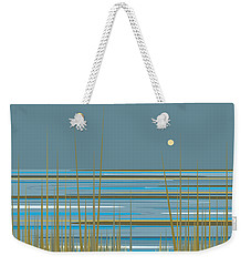 Weekender Tote Bag featuring the digital art Beach Sunrise by Val Arie