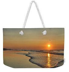 Topsail Nc Beach Sunrise Weekender Tote Bag