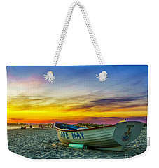 Beach Sunset In Cape May Weekender Tote Bag