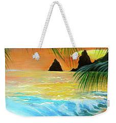 Beach Sunset Weekender Tote Bag by Jenny Lee
