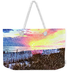 Beach Sunset Weekender Tote Bag by Susan Leggett