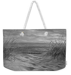 Beach Time Serenade - Black And White Weekender Tote Bag