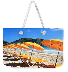Beach Umbrellas Weekender Tote Bag by Catie Canetti