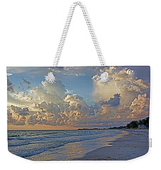 Weekender Tote Bag featuring the photograph Beach Walk by HH Photography of Florida