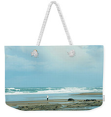 Weekender Tote Bag featuring the photograph Beach Walk by Mary Jo Allen