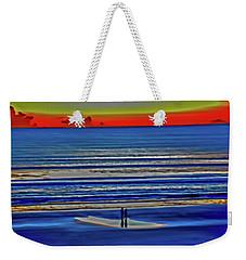 Beach Walking At Sunrise Weekender Tote Bag