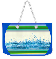 Weekender Tote Bag featuring the photograph Beach Water Splash by Robert G Kernodle