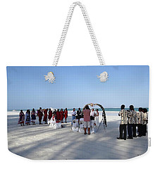 Beach Wedding In Kenya Weekender Tote Bag