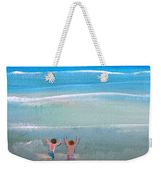 Weekender Tote Bag featuring the painting Beach4 by Diana Bursztein