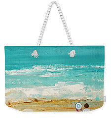 Weekender Tote Bag featuring the painting Beach6 by Diana Bursztein