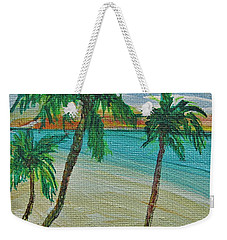 Weekender Tote Bag featuring the painting Beach9 by Diana Bursztein