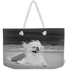 Beachbum Black And White Weekender Tote Bag