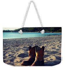 Beached Boots Weekender Tote Bag