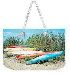 Beached Kayaks Weekender Tote Bag