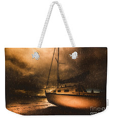 Weekender Tote Bag featuring the photograph Beached Sailing Boat by Jorgo Photography - Wall Art Gallery