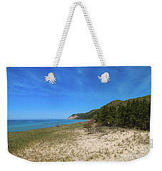 Weekender Tote Bag featuring the photograph Beaches And Bluffs by Rachel Cohen