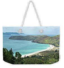 Beaches Of Coromandel, New Zealand Weekender Tote Bag by Yurix Sardinelly
