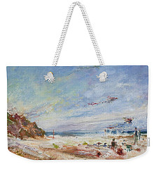 Beachy Day - Impressionist Painting - Original Contemporary Weekender Tote Bag