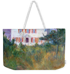 Beacon On The Hill - Lighthouse Painting Weekender Tote Bag