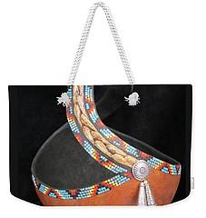 Beaded Swirl Weekender Tote Bag by Barbara Prestridge